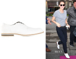 Kristen Stewart's Robert Clergerie Franck Oxford shoes