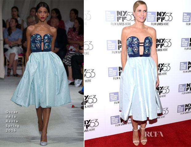 Kristen Wiig In Oscar de la Renta - 'The Martian' New York Film Festival Premiere