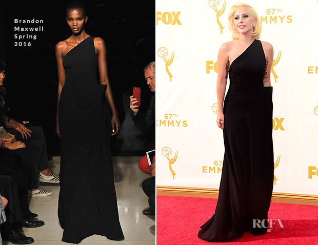 Lady Gaga In Brandon Maxwell - 2015 Emmy Awards