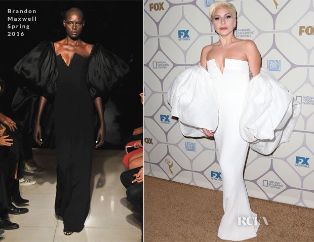 Lady Gaga In Brandon Maxwell - Emmy Awards Fox After Party