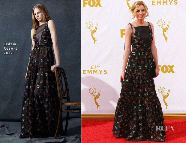 Laura Carmichael In Erdem - 2015 Emmy Awards