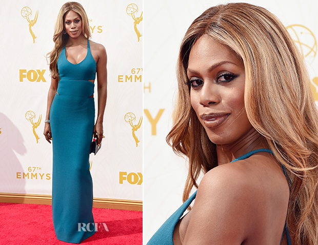 Laverne Cox In Calvin Klein Collection - 2015 Emmy Awards