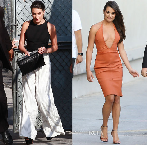Lea Michele In Alice + Olivia & Bec & Bridge - Jimmy Kimmel Live