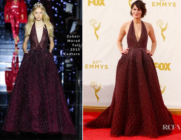 Lena Headey In Zuhair Murad Couture 2015 Emmy Awards