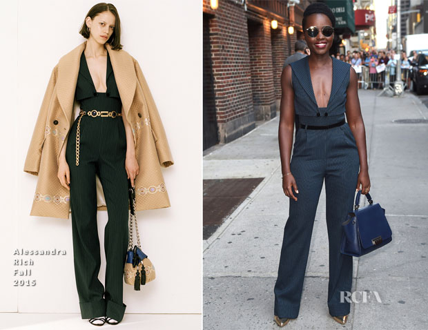 Lupita Nyong'o In Alessandra Rich - The Late Show with Stephen Colbert