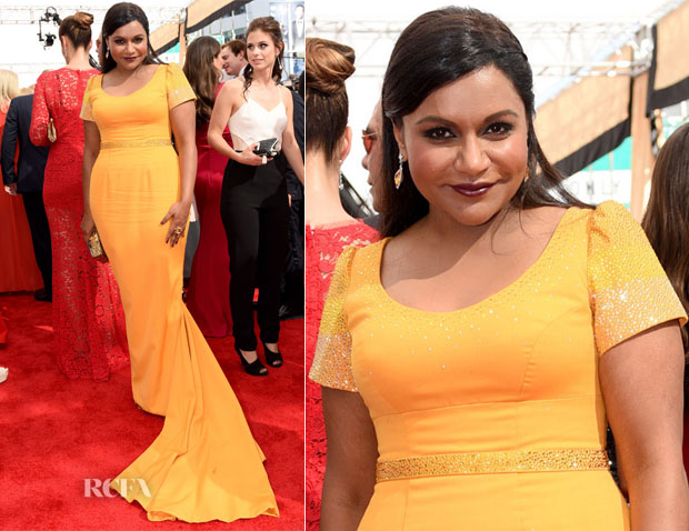 Mindy Kaling In Salvador Pérez - 2015 Emmy Awards