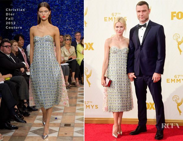 Naomi Watts In Christian Dior Couture F12 - 2015 Emmy Awards