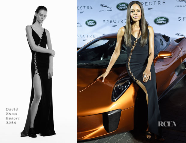 Naomie Harris In David Koma - Jaguar Land Rover Celebrate Their Vehicles Starring In The New Bond Film, 'Spectre'
