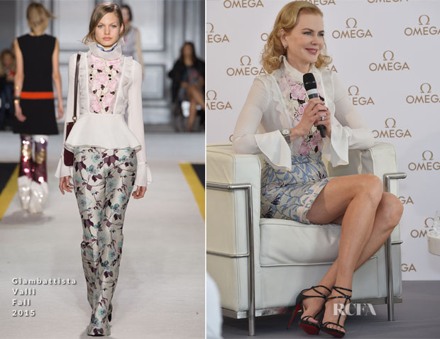 Nicole Kidman In Giambattista Valli - OMEGA 'Her Time' Q&A