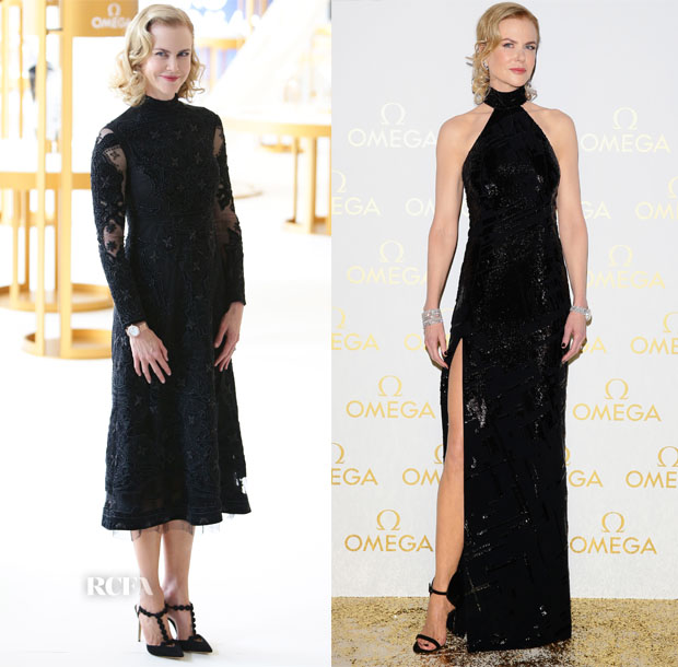 Nicole Kidman In Valentino & Mugler - OMEGA 'Her Time' Exhibition Opening & Gala