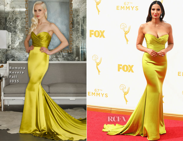 Padma Lakshmi In Romona Keveza - 2015 Emmy Awards