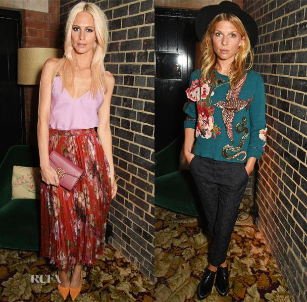 Poppy Delevingne & Clémence Poésy In Gucci - Violet Magazine Dinner