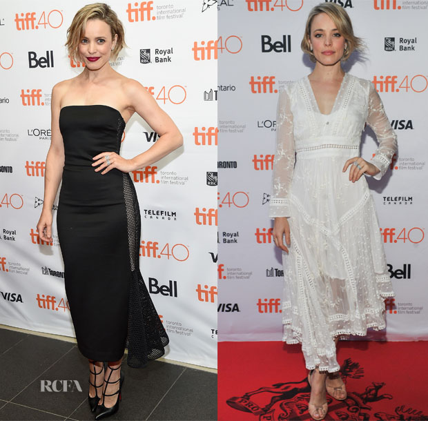 Rachel McAdams In Cushnie et Ochs & Zimmermann - 'Every Thing Will Be Fine' & Jason Reitman's Live Read Toronto International Film Festival Photocalls