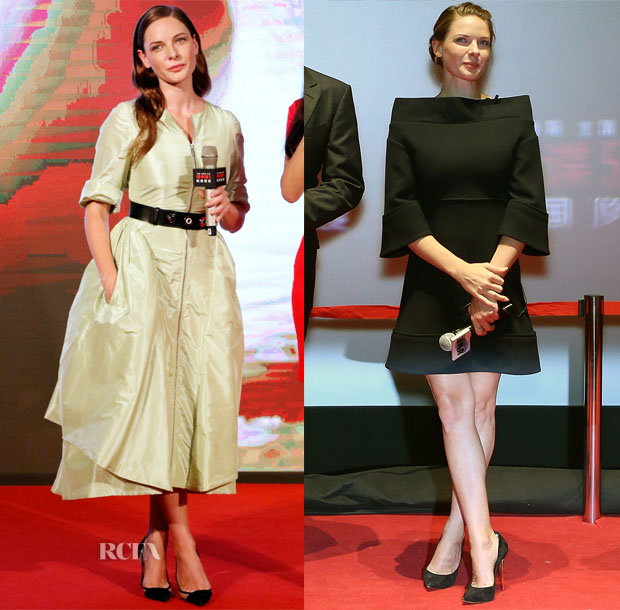 Rebecca Ferguson In Christian Dior & Victoria Beckham - 'Mission Impossible Rogue Nation' Asia Promo Tour