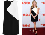 Reese Witherspoon's Saint Laurent Two-Tone Wool Mini Dress
