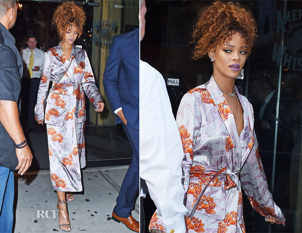 Rihanna In Dries Van Noten - Sonya Benson's New York Nuptials