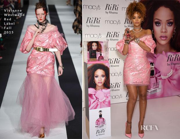 Rihanna In Vivienne Westwood Red Label - RiRi By Rihanna Fragrance Unveiling