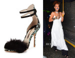 Rihanna's Sophia Webster  Nicole Fur d'Orsay Sandals