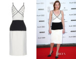 Ruth Wilson's Balenciaga Bi-colour rivet-detail dress