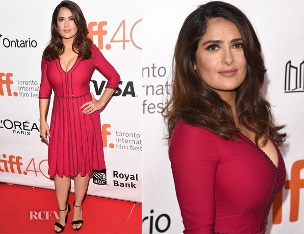 Salma Hayek In Gucci -  'Septembers of Shiraz' Toronto Film Festival Premiere