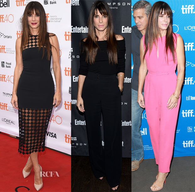 Sandra Bullock In David Koma, ALC & Max Mara - 2015 Toronto Film Festival