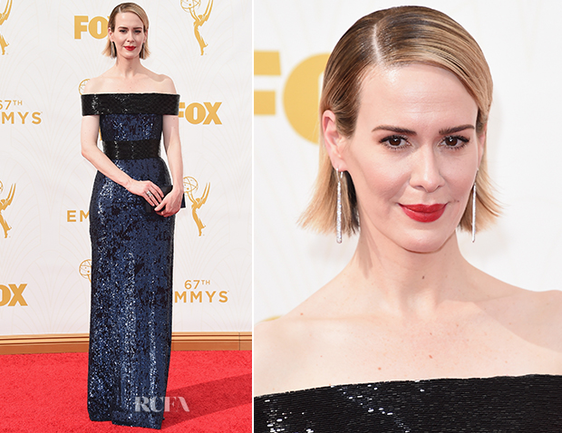 Sarah Paulson In Prabal Gurung - 2015 Emmy Awards
