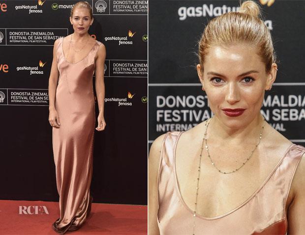 Sienna Miller In Galvan - 'High-Rise' San Sebastian Film Festival Premiere