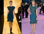 Toni Collette In Hervé Léger by Max Azria - 'Miss You Already' London Premiere