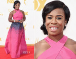 Uzo Aduba In Jonathan Cohen - 2015 Emmy Awards