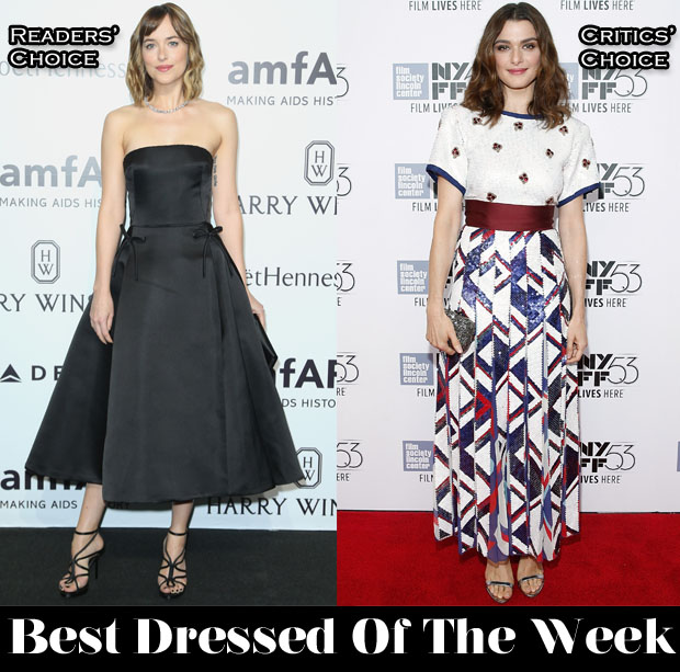 Best Dressed Of The Week - Dakota Johnson In Christian Dior & Rachel Weisz In Marc Jacobs
