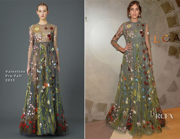 Alexa Chung In Valentino -  BVLGARI & ROME Eternal Inspiration Opening Night
