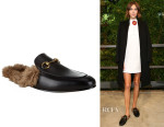 Alexa Chung's Gucci Princetown Leather Slippers