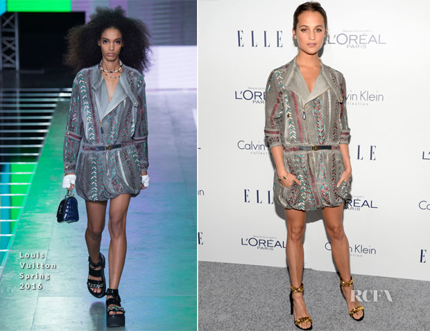65aba5539401 Alicia Vikander In Louis Vuitton - 2015 ELLE Women In Hollywood Awards
