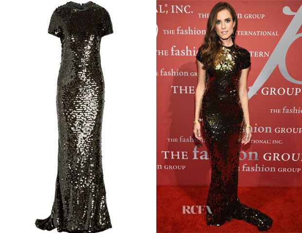 Allison Williams' Lanvin Paillette-Embellished Tulle Gown