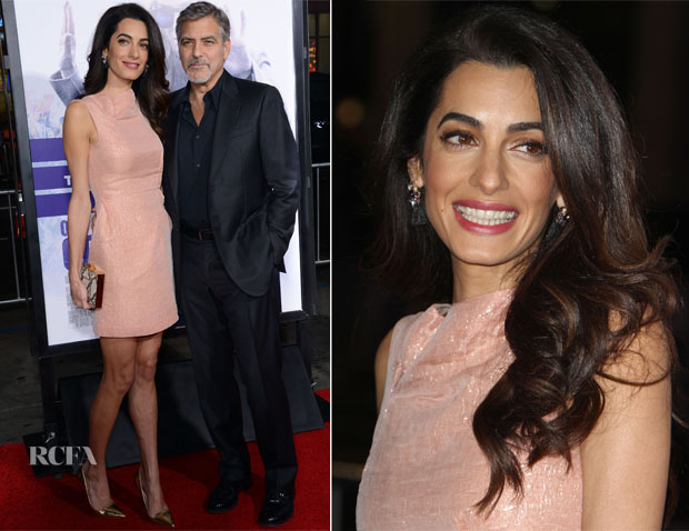 Amal Clooney In Roland Mouret - 'Our Brand Is Crisis' LA Premiere