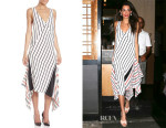 Amal Clooney's Tome Striped Silk Handkerchief Dress