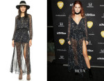 Ashley Tisdale's LOVESHACKFANCY Stars Smocked Maxi Dress