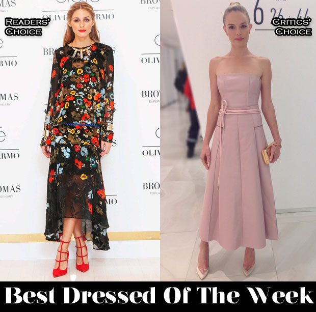 Best Dressed Of The Week - Olivia Palermo In Preen & Kate Bosworth In Carolina Herrera