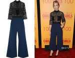Beth Behrs' Self-Portrait Cropped Guipure Lace Jumpsuit