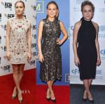 Brie Larson In Valentino, Rodarte & Katharine Kidd - 'Room' Promo Tour