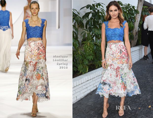 Camilla Belle In Monique Lhuillier - CFDAVogue Fashion Fund Show