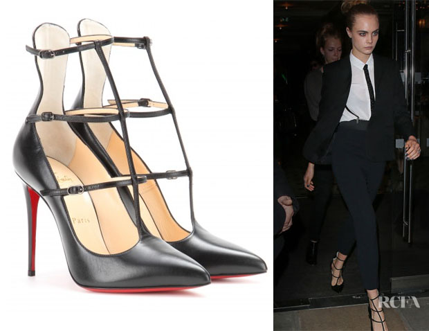 Cara Delevingne's Christian Louboutin Toerless Muse 100 leather pumps