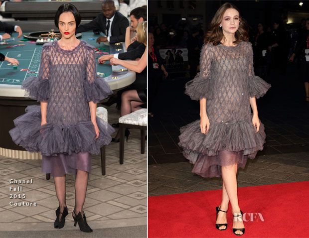 Carey Mulligan In Chanel Couture - 'Suffragette' London Film Festival Opening Night Gala Premiere