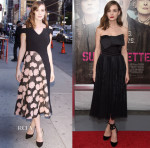Carey Mulligan In Roland Mouret & Alexander McQueen -  'The Late Show With Stephen Colbert'  & 'Suffragette' New York Premiere