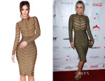 Carmen Electra's House of CB 'Kaori' Studded Bandage and Mesh Dress