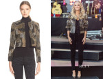 Carrie Underwood's Alice + Olivia Kidman Beaded Long-Sleeve Jacket