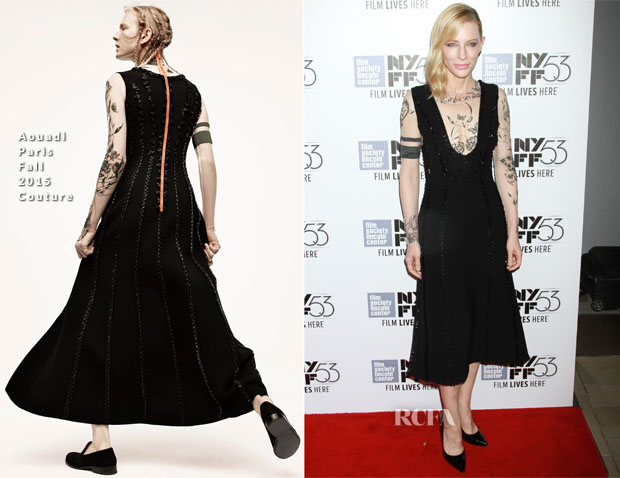 Cate Blanchett In Aouadi Paris Couture - 'Carol' New York Film Festival Premiere