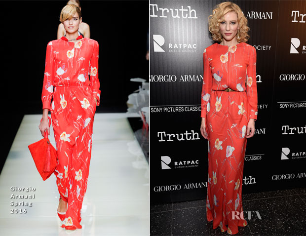Cate Blanchett In Giorgio Armani - 'Truth' New York Screening