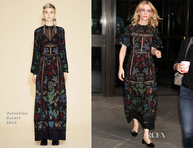 Cate Blanchett In Valentino - Out In New York City