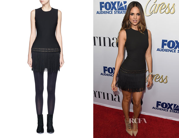 Eiza Gonzalez's Elizabeth and James Eron Eyelet Fringe Dress